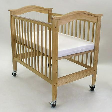 l a baby berkshire mini portable crib with mattress brown. Black Bedroom Furniture Sets. Home Design Ideas