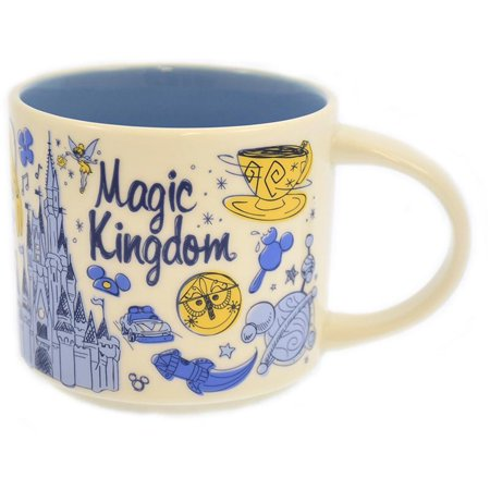 Disney Parks Starbucks Been There Magic Kingdom Coffee Mug New with Box ()