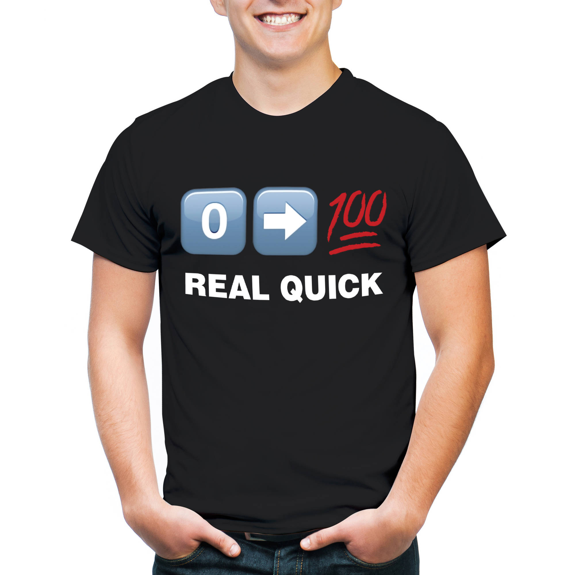 0 --> 100 Real Quick Men's Graphic Tee