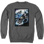 Dark Knight Rises Batwing Rises Mens Crewneck Sweatshirt