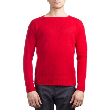 Prada Men's Wool Knitted Crewneck Sweater (Red Pradas)