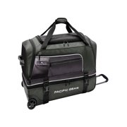 Travelers Choice Pacific Gear Drop Zone Drop-Bottom Rolling Duffel Travel and Sports Bag