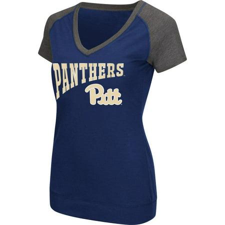 Pitt Panthers Sports - Ladies Pitt University Panthers Raglan Short Sleeve Tee