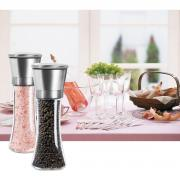 Jeobest Salt and Pepper Grinder - Set of Two Salt and Pepper Grinder - Manual Pepper Mill and Salt Mill Shakers With Adjustable Coarseness - Salt and Pepper Shakers- Spice Grinder