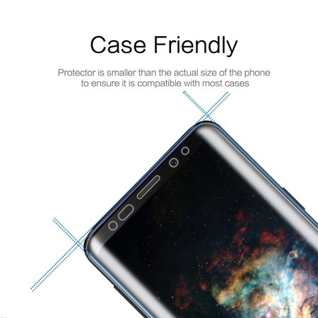 LIVEDITOR Samsung Galaxy S9+ PLUS Full Coverage Clear Anti-Bubble 3D Film Screen Protector - image 4 of 7