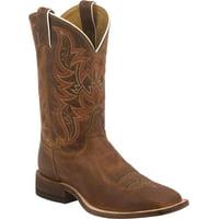 Justin Men's Distressed Cognac Bent Rail Western Boots, Brown, 8