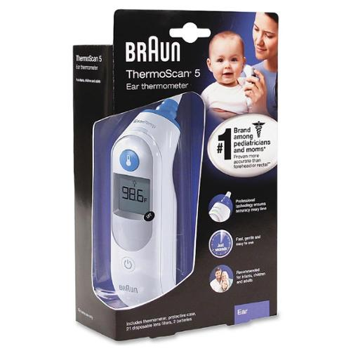 Braun ThermoScan 5 Ear Thermometer 1 ea (Pack of 6)