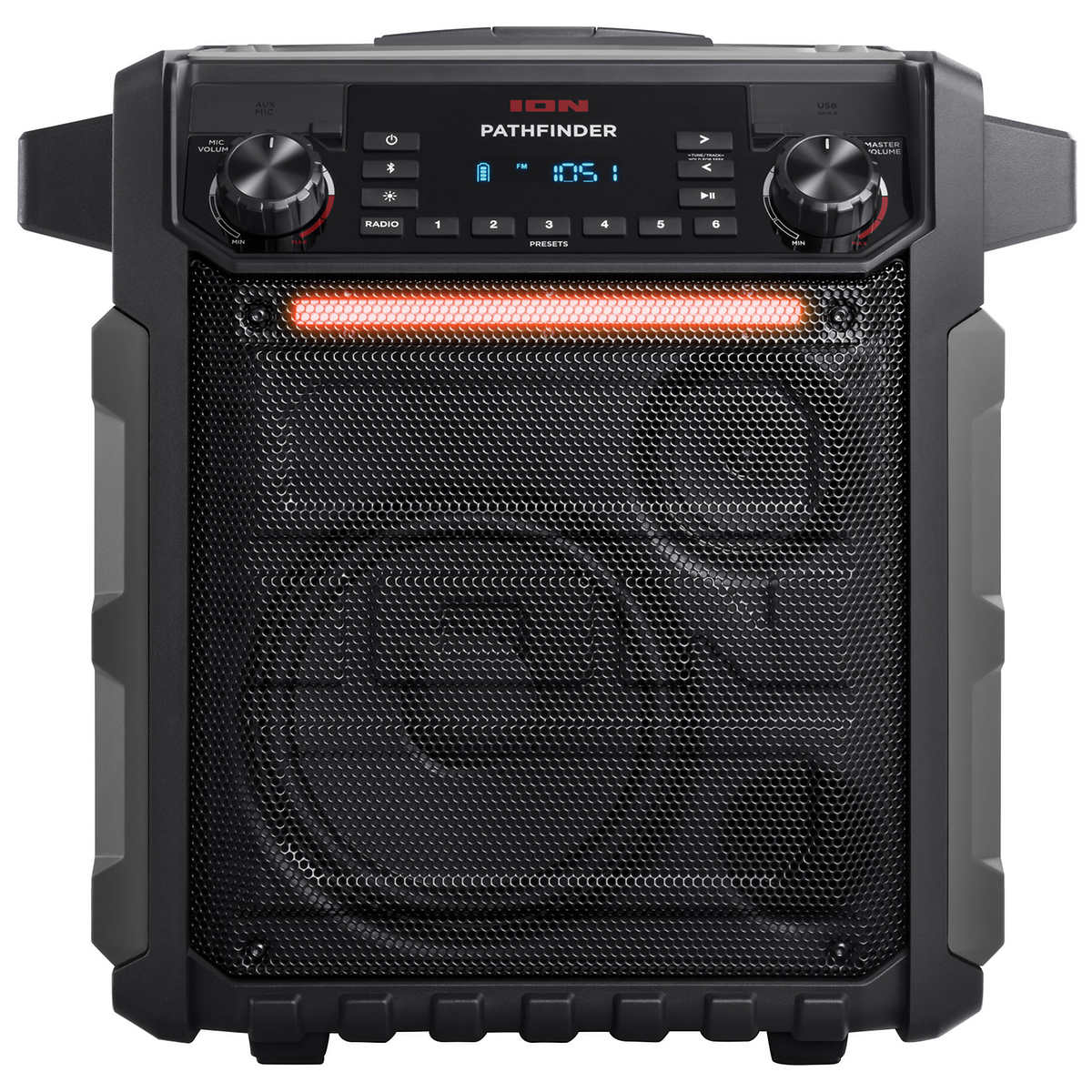 ION Audio Pathfinder Portable Bluetooth Speaker with AM/FM Radio and Microphone