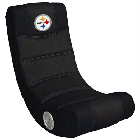 Pittsburgh Steelers Video Chair with Bluetooth - Black - No - Pittsburgh Steelers Video Chair