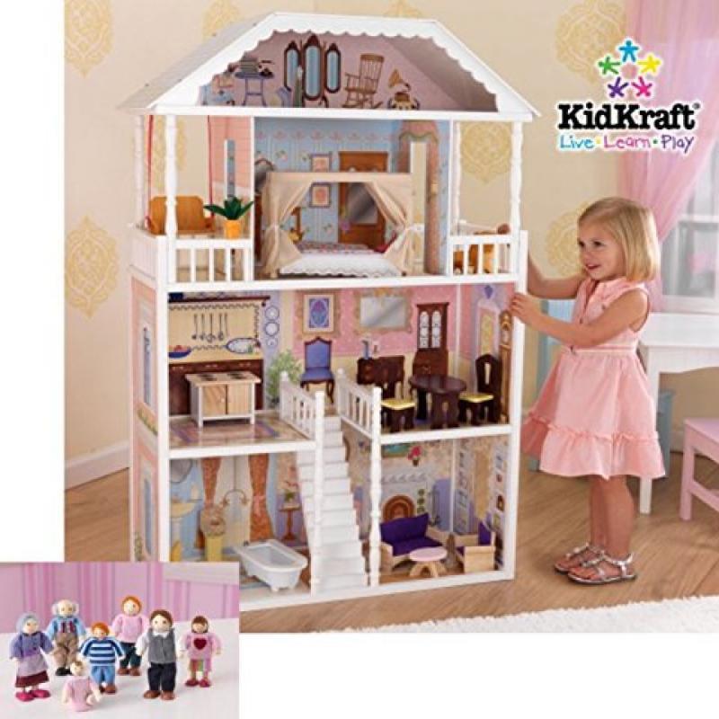 KidKraft Savannah Dollhouse with Doll Family by