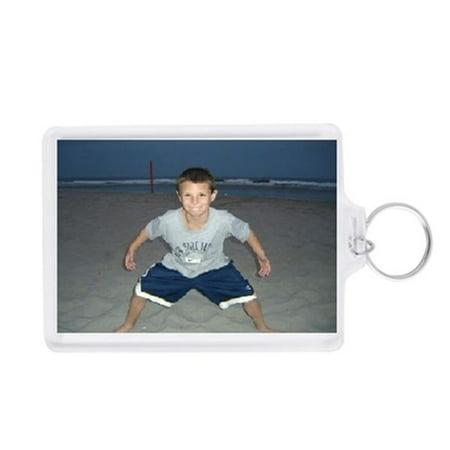 Acrylic Square Key Tag - Acrylic Photo Snap-in Jumbo Size Key Chain - 2.5x3.5
