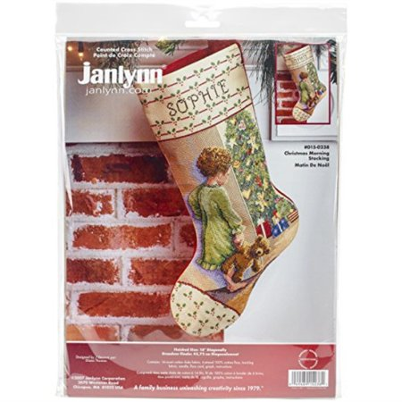 Christmas Morning Stocking Counted Cross Stitch Kit-18