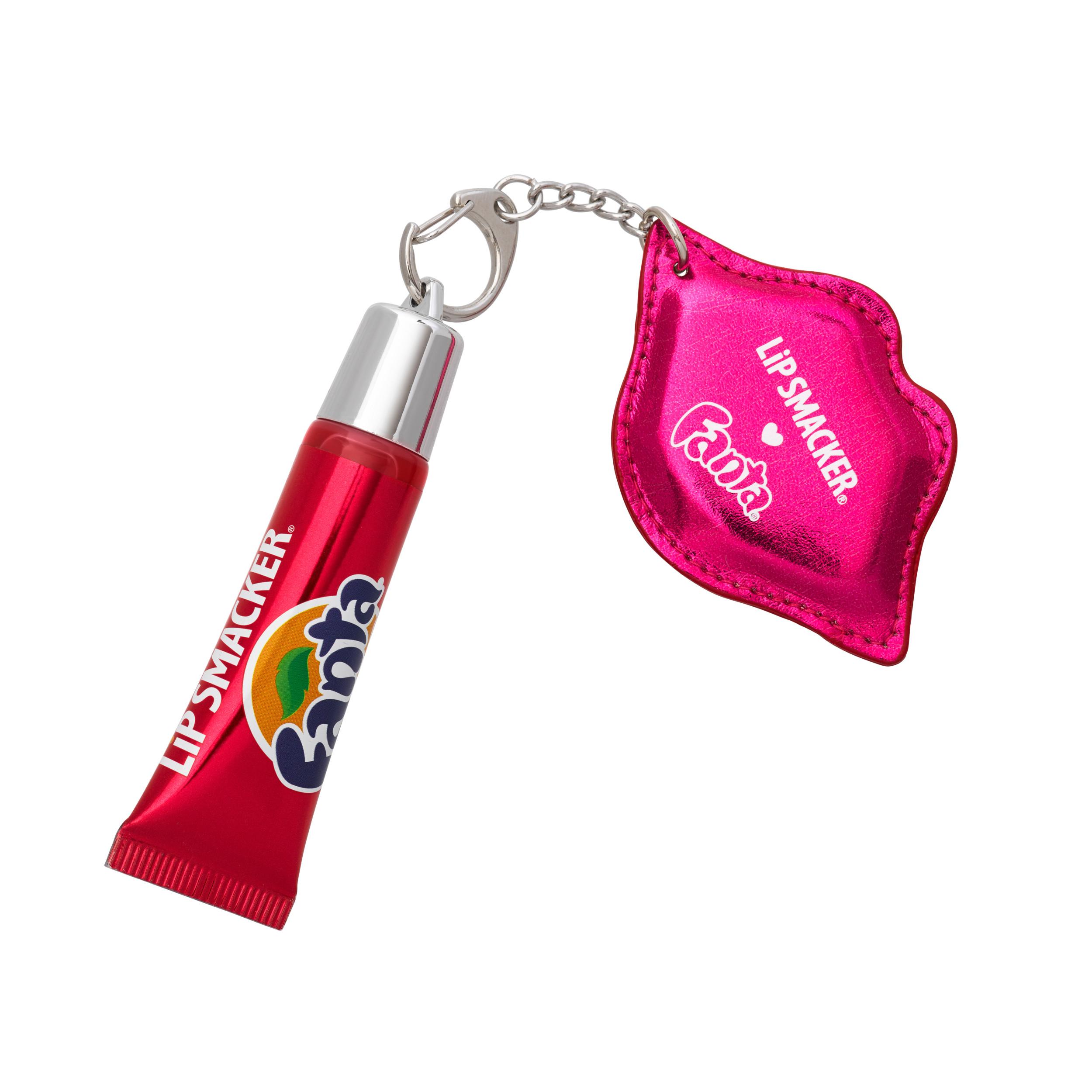 (2 Pack) Lip Smacker Fanta Stawberry Refresh Lip Gloss with Keychain