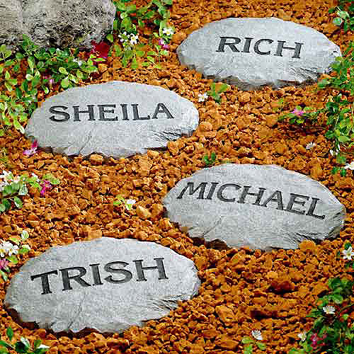 Personalized Garden Stepping Stones