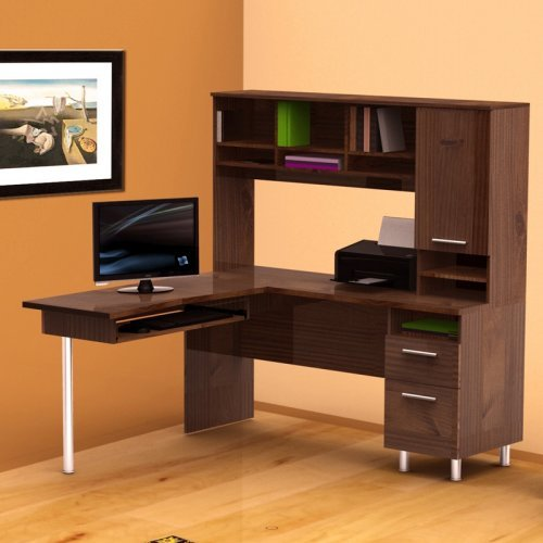Nexera L Shaped Desk with Hutch
