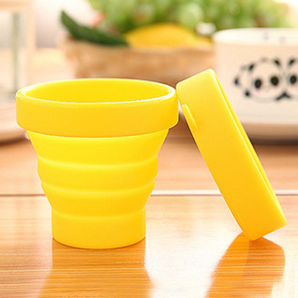 New Fashion Portable Silicone Telescopic Drinking Collapsible Folding Cup Travel Camping