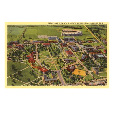 View over Ohio State University, Columbus, Ohio Print Wall Art](Halloween Columbus Ohio)