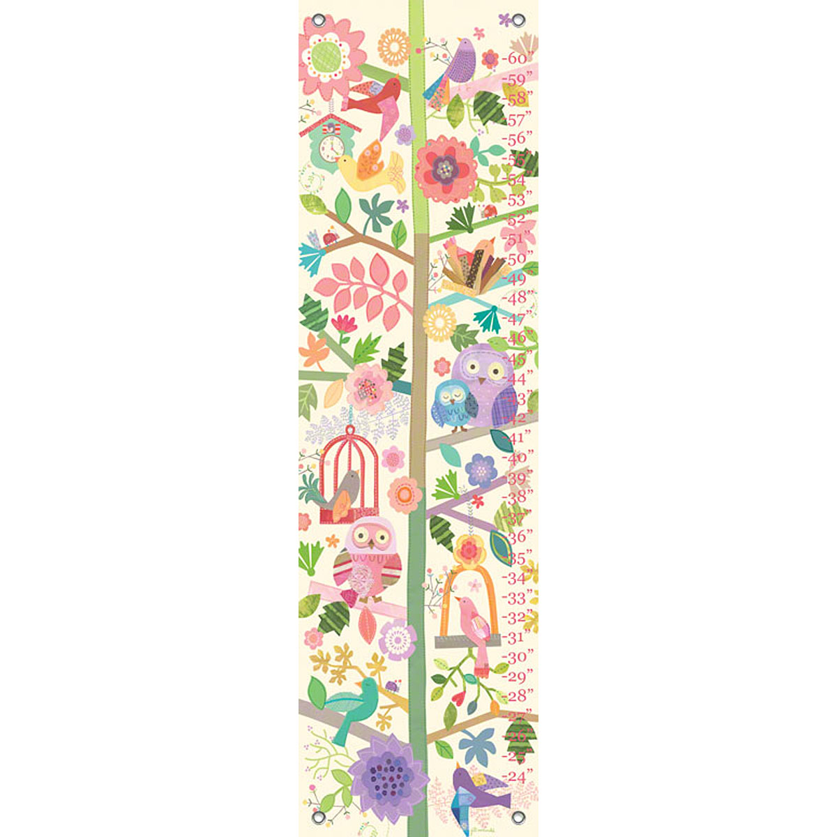 Oopsy daisy on the Road Growth Chart 12 by 42 Inches Fine Art for Kids PE2960