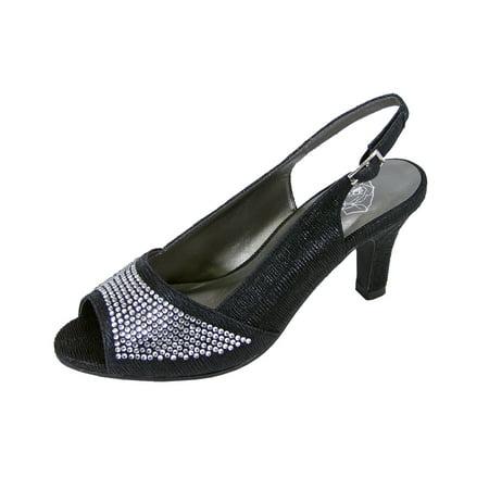 FLORAL Lorena Women Extra Wide Width Peep Toe -