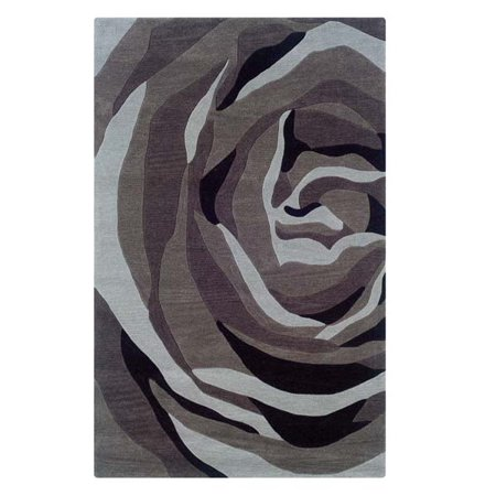- Linon Rugs Trio With A Twist Grey/Charcoal Rug 1'10