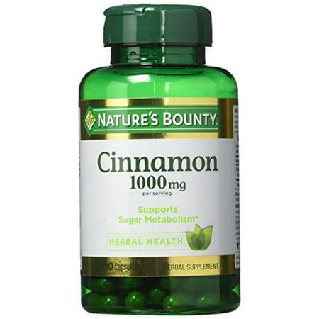 Nature's Bounty Cinnamon 1,000 mg Caps, 100 ct - image 1 of 1