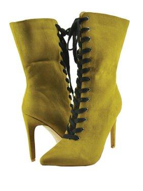 36b7371f15a Product Image Cape Robbin Gigi 11 Women s Faux Suede Lace Up Boots KM2284