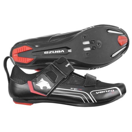 Venzo Bicycle Bike Cycling Triathlon Shoes For Shimano SPD SL Look Black (Triathlon Neoprenanzüge)