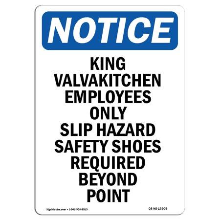 OSHA Notice - Kitchen Employees Only Slip Hazard Sign | Heavy (Electrical Hazard Slip)