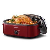 Oster 18 Quart Red Roaster with High Dome & Self-Basting Lid