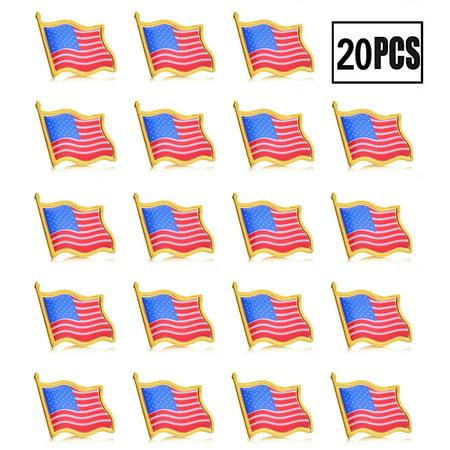 Patriotic American Flag Lapel Pin United States USA Badge Waving Pin ()