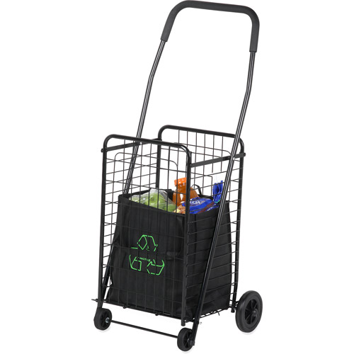 Honey-Can-Do Rolling 4-Wheel Utility Cart, Black