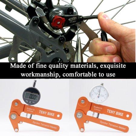 Aluminum Alloy Bike Spoke Tension Meter Wheel Builders Tool Bikes Indicator Tensiometer Scales to 0.01mm