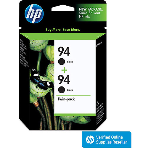 HP 94 Print Cartridge, 480 Approx Page Yield, Black (Pack of 2)