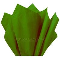 "Moss Green Tissue Paper, 15""x20"", 100 ct"