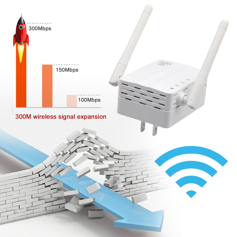 300M WIFI Repeater Wireless Extender White Signal Booster Network Router