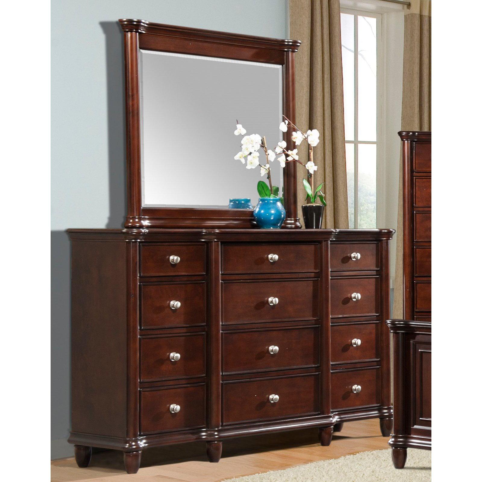 Picket House Furnishings Hamilton 12 Drawer Dresser - Warm Brown Cherry