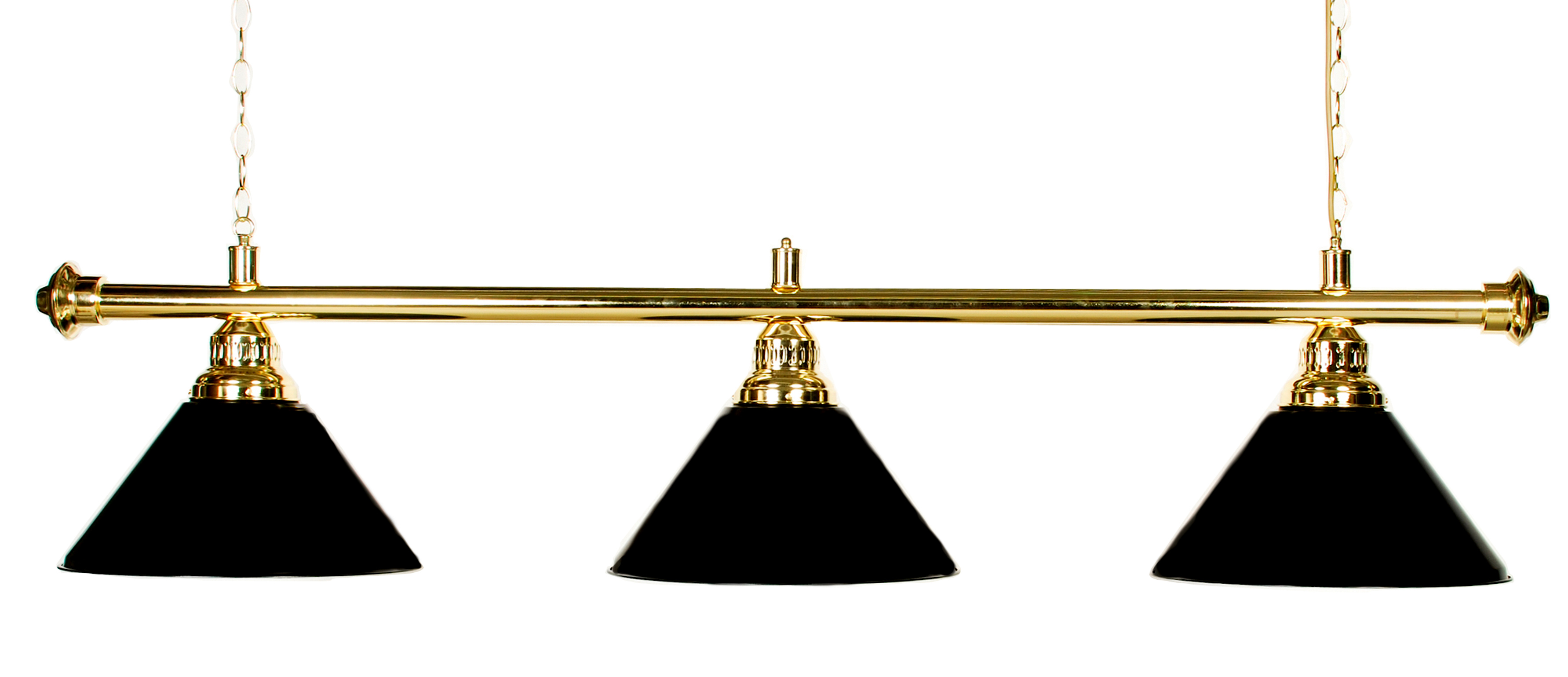 "61"" Pool Table Light Pool Table Light With Metal Black Shades For 7 or 8' Table by"