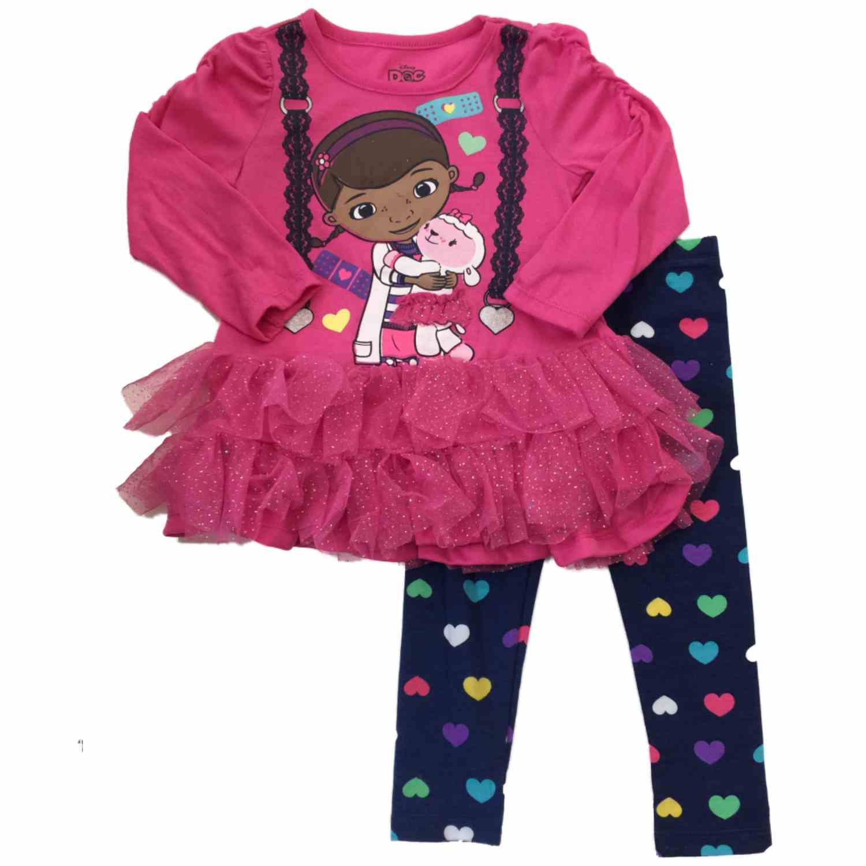 Doc McStuffins Toddler Girl Shirt /& Leggings Outfit Set New 4T