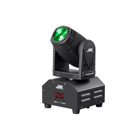 Ez Change 4 Stage (Monoprice Stage Right 10W Mini Beam Moving Head RGBW 4-in-1 LED Sound Active Party Light With Reversible Pan and tilt controls And Built-in automated color changing programs )