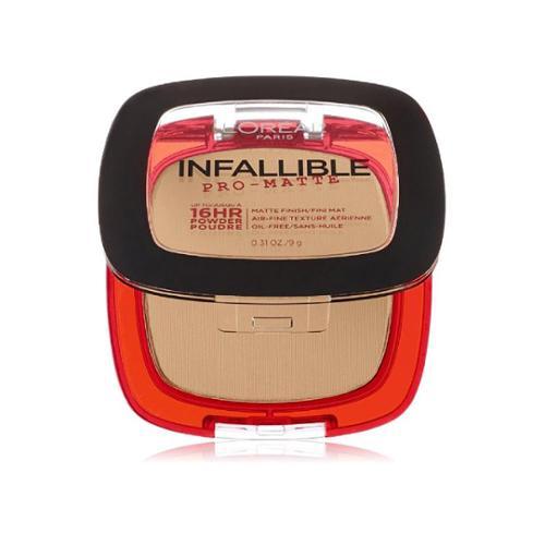L'Oreal Paris Infallible Pro-Matte Powder,  Natural Beige [200] 0.31 oz (Pack of 4)