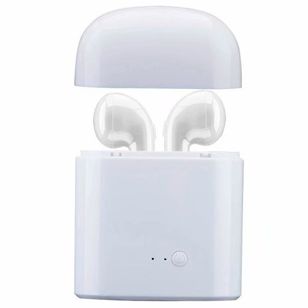 VicTsing HBQ I7 TWS Twins Wireless Earbuds Mini Bluetooth Headset Earphone with Charging Case for iPhone X 8 7 6s 6 Plus SE Samsung Galaxy and other cellphones (Apple Iphone Bluetooth)