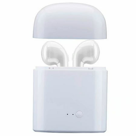 VicTsing HBQ I7 TWS Twins Wireless Earbuds Mini Bluetooth Headset Earphone with Charging Case for iPhone X 8 7 6s 6 Plus SE Samsung Galaxy and other cellphones (White)