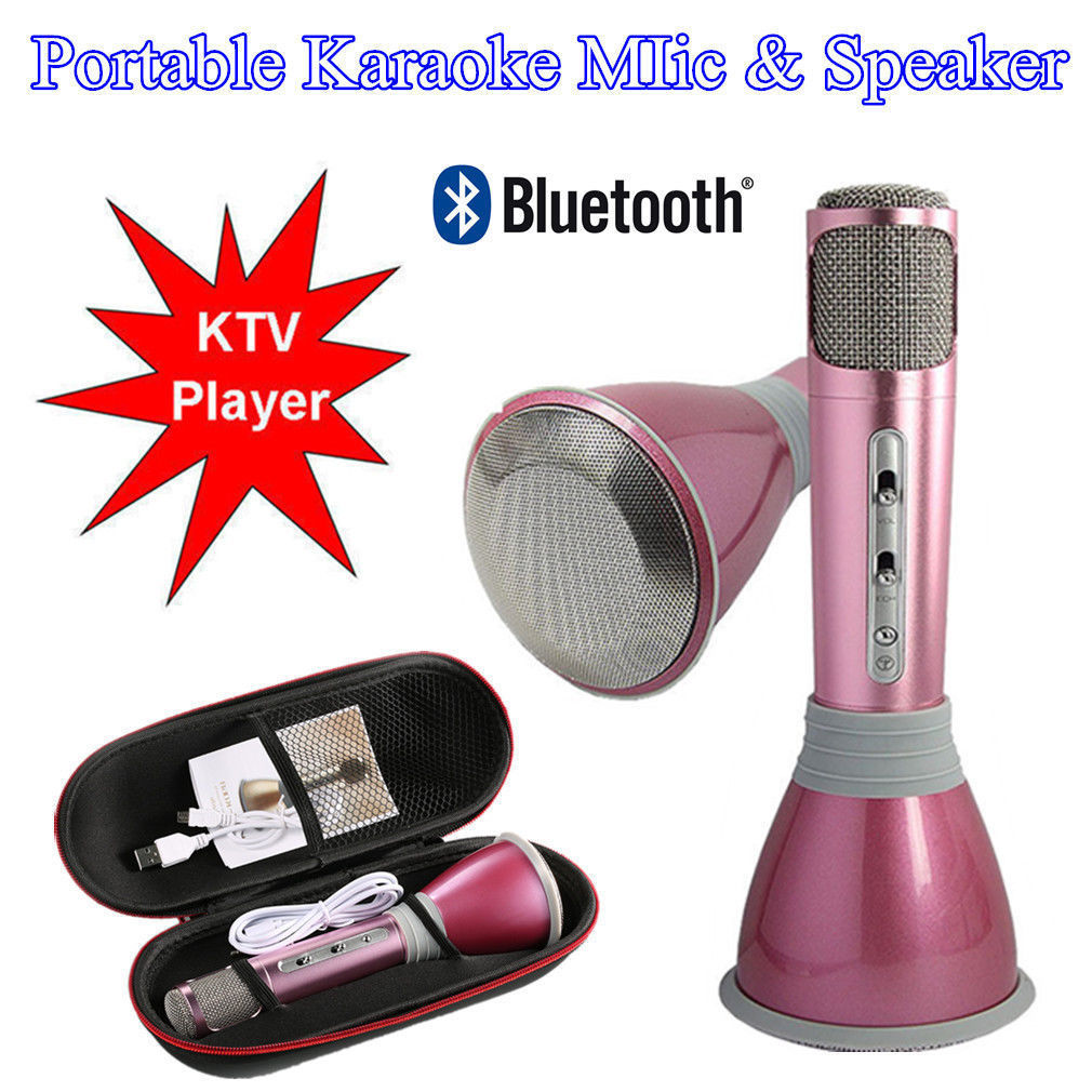 Professional K068 Wireless b luetooth Metal HandHeld Microphone Karaoke Gifts