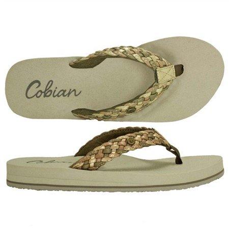 70e3bcdee Cobian - Cobian Braided Bounce Sandals for Women - Gold - Walmart.com