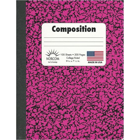 Norcom 100-Sheet Neon Comp Book, College Rule