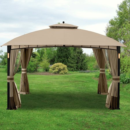Image of Garden Winds Replacement Canopy Top Cover for the Moorehead Gazebo -RipLock 350
