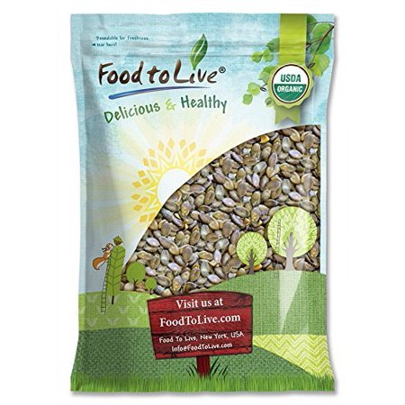 Organic Dry Roasted Pumpkin Seeds with Sea Salt, 12 Pounds — Non-GMO Kernels, Pepitas, Kosher, Vegan, No Shell, Healthy Snack, Bulk – by Food to Live ()