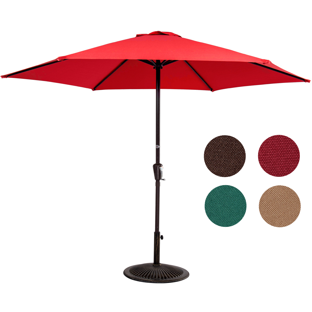 Sundale Outdoor 9FT Patio Umbrella Patio Market Steel With Crank Outdoor Yard Garden by Sundale Outdoor