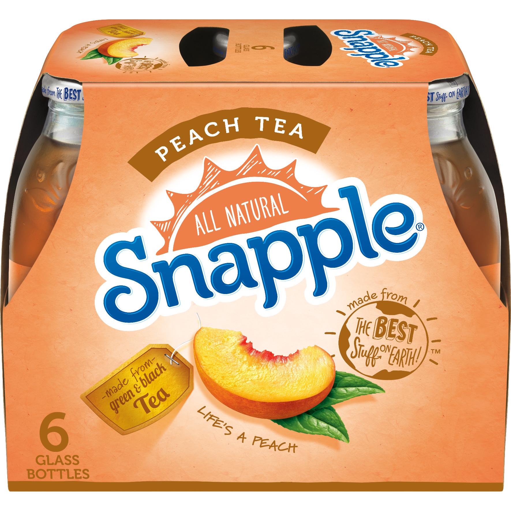 Snapple Peach Tea, 16 fl oz, 6 pack