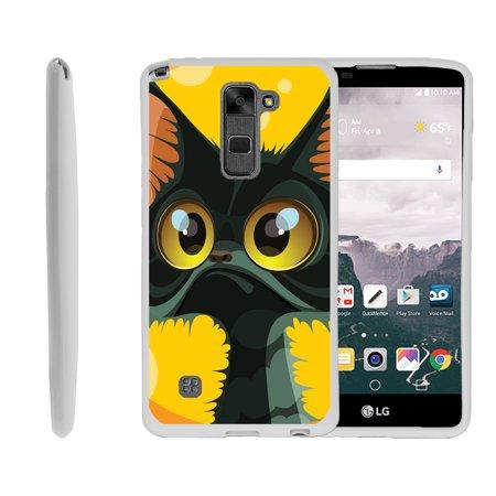LG G Stylo 2, LG G Stylus 2 LS775, Flexible Case [FLEX FORCE] Slim Durable TPU Sleek Bumper with Unique Designs - Big Eyed Cat (Slim Cat Eye Sonnenbrille)